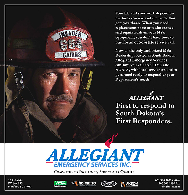 Print ad, for SD Firefighter