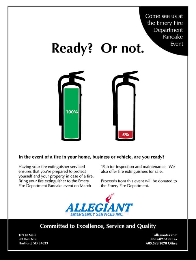 Print, Fire Extinguisher Ad, March 2013