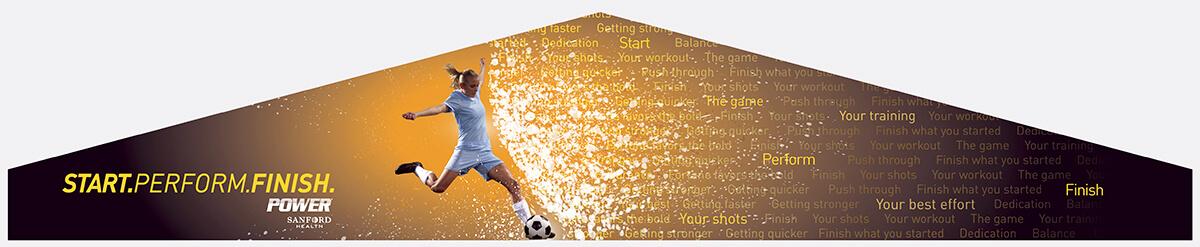 Sanford Fieldhouse Mural – Soccer