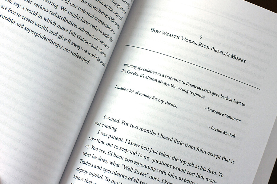 Chapter opening in book layout