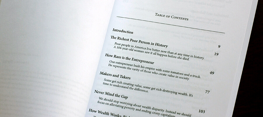 Table of Contents in book layout