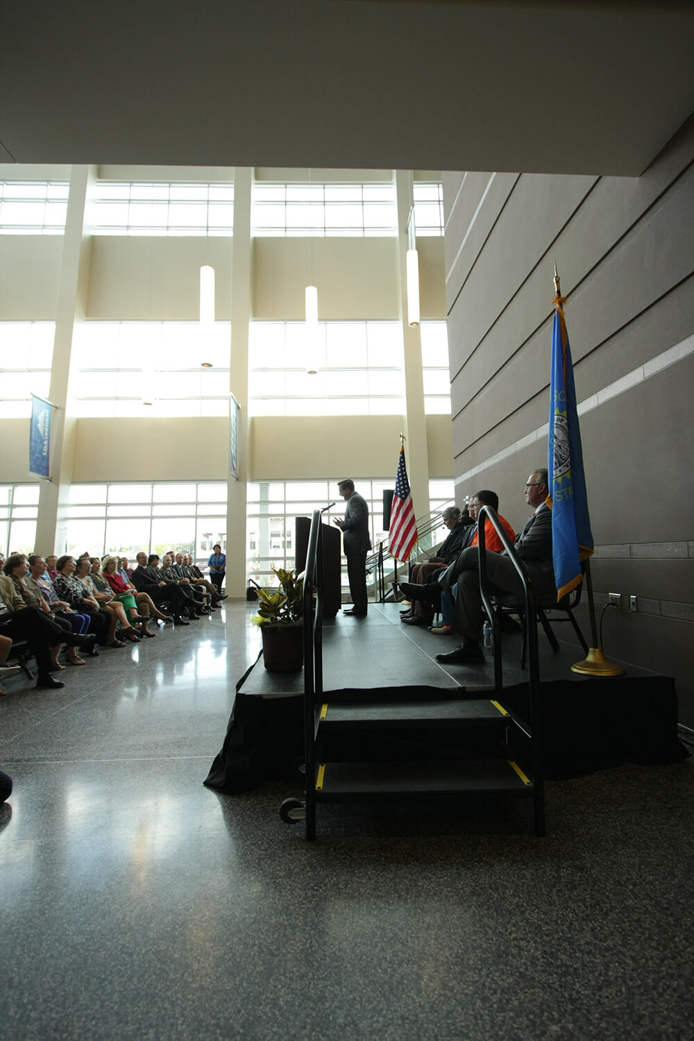 DSPC ribbon cutting–mayor speaking
