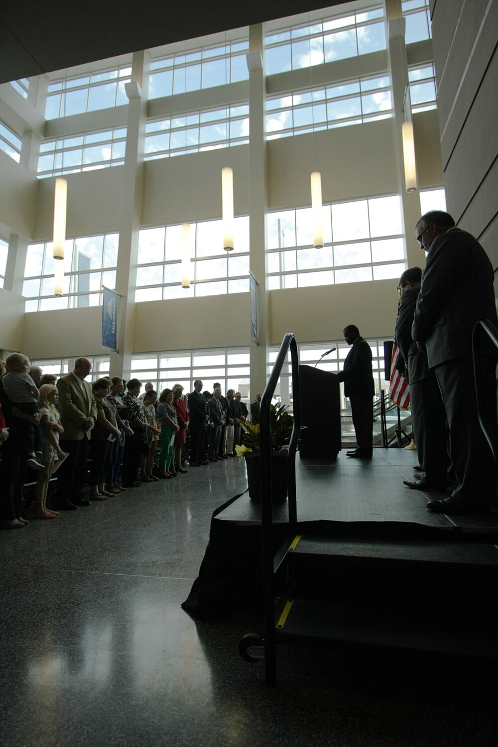 Denny Sanford Premier Center ribbon cutting-opening prayer