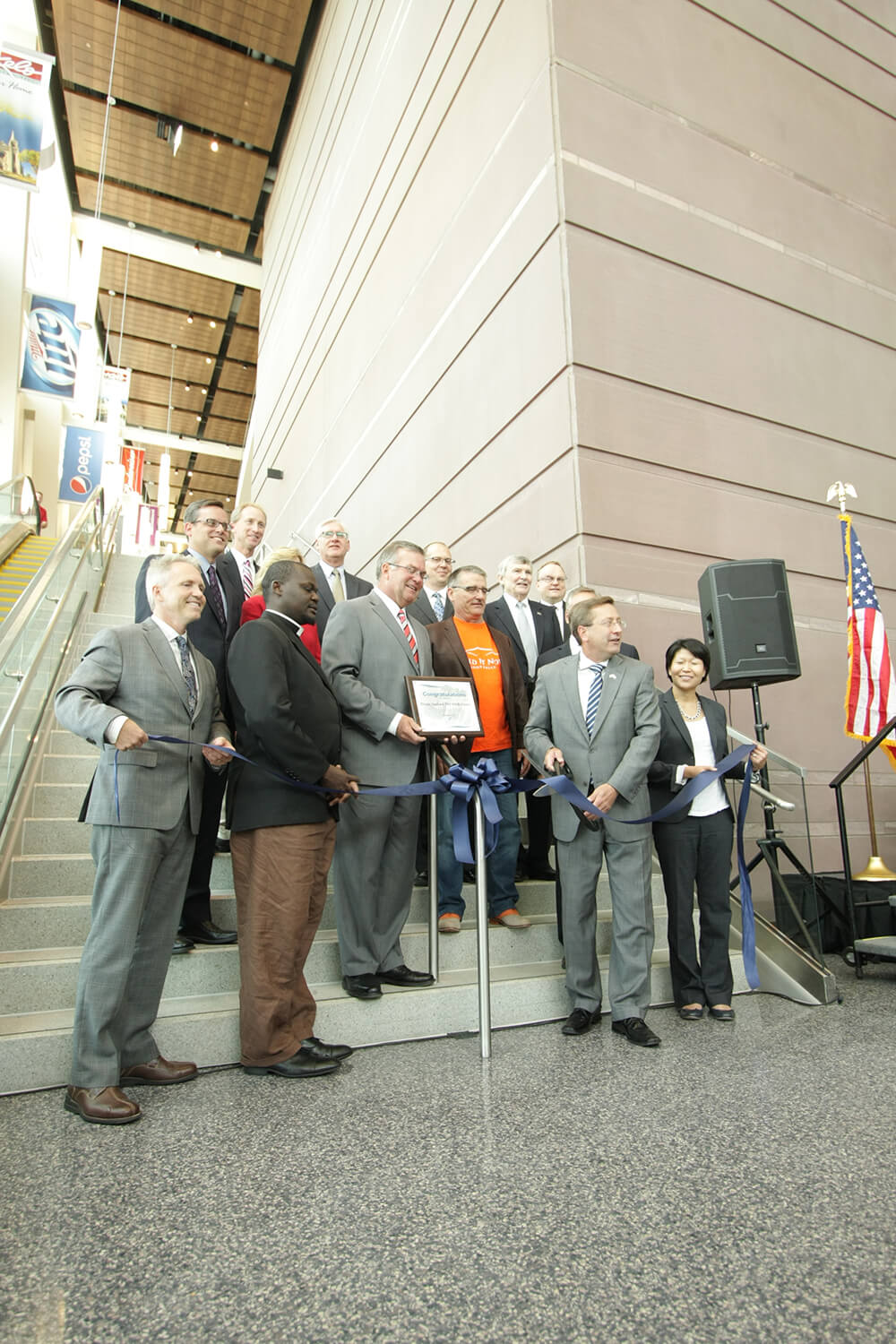 Denny Sanford Premier Center ribbon cutting