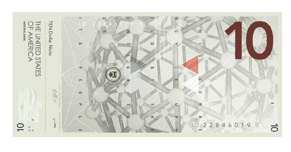 A redesign concept for the US $10 bill