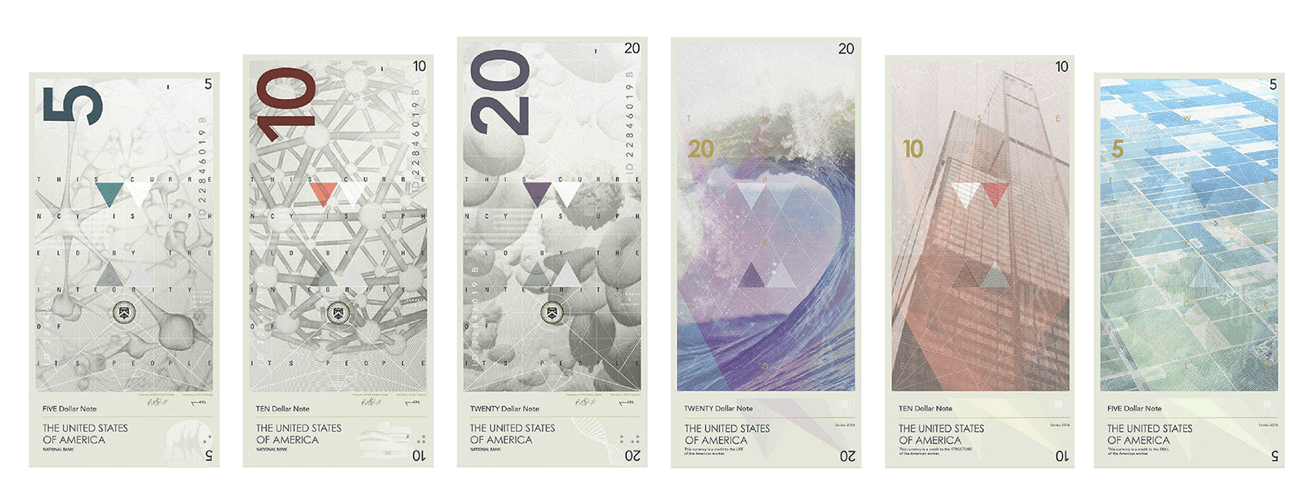 Design concept for US currency