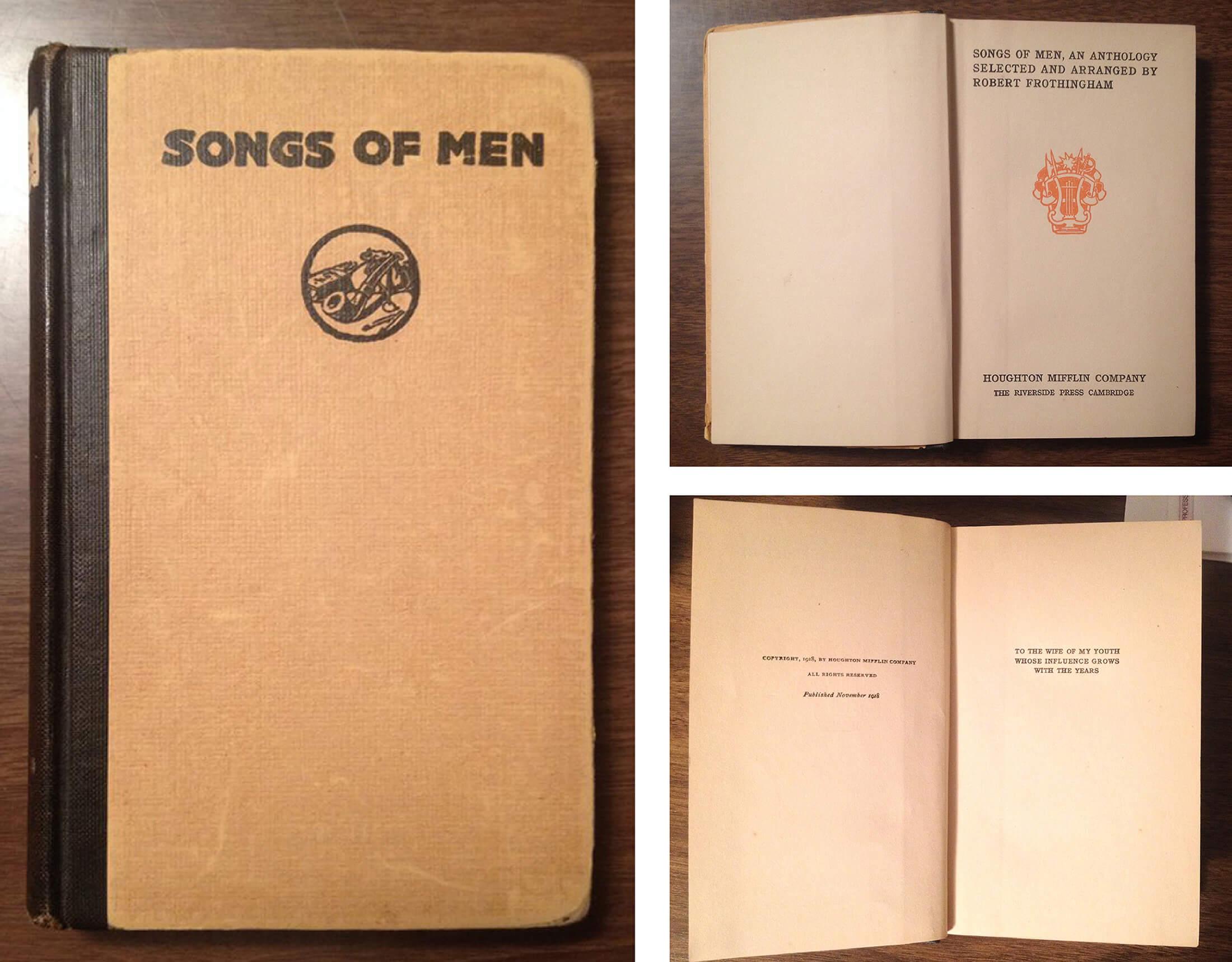 Songs of Men, Robert Frothingham, 1918-DFB