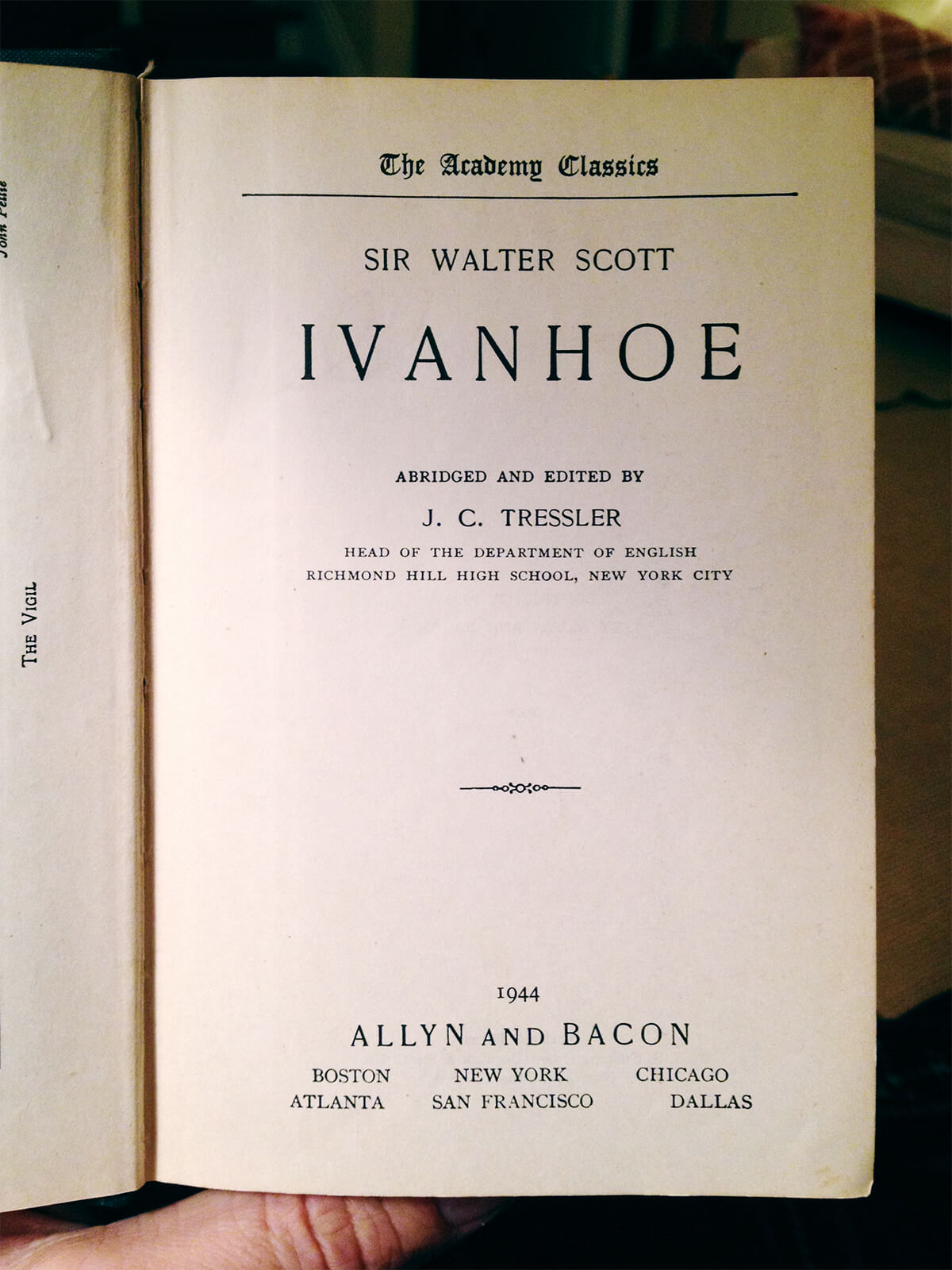 Ivanhoe: title page