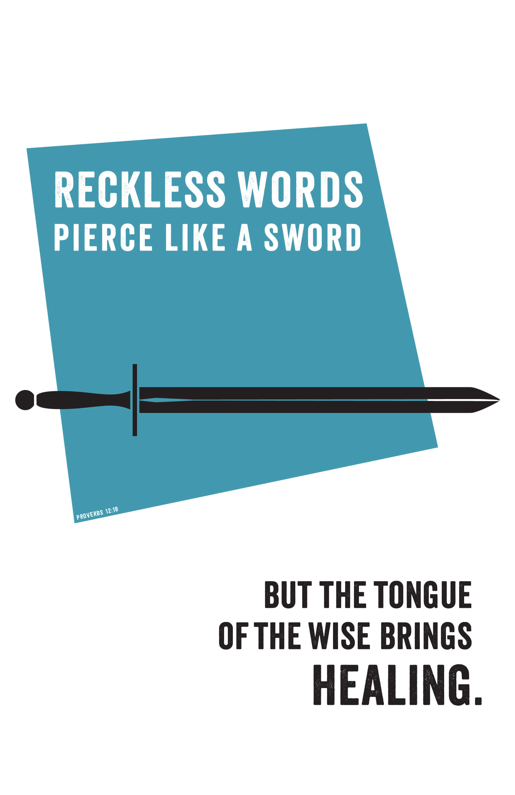 Reckless Words, 11 x 17