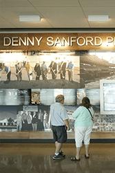 Denny Sanford Premier Center Timeline Display