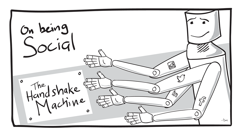 The Handshake Machine–don't automate your social media