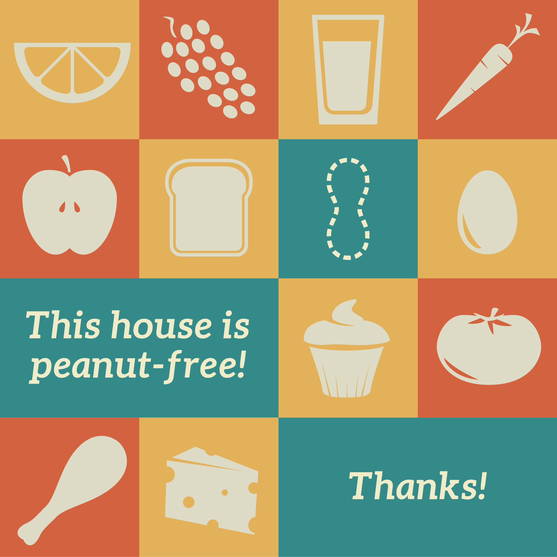 This house is peanut-free