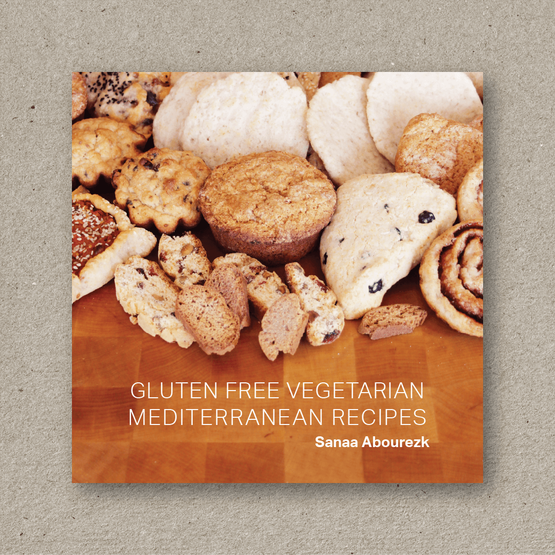 Gluten Free Vegetarian Mediterranean Recipes (cover design and book design)