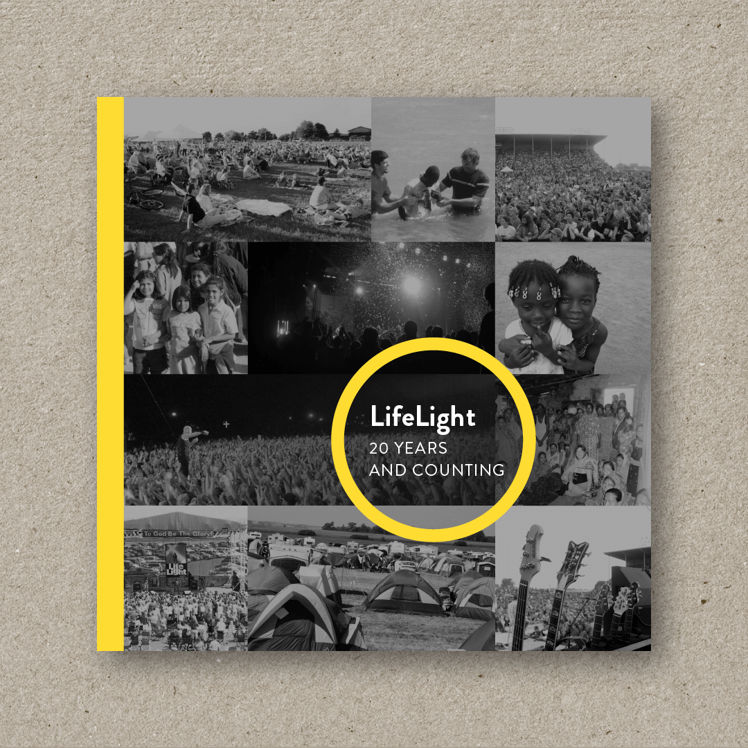 Lifelight: 20 Years and Counting (cover design and art direction)