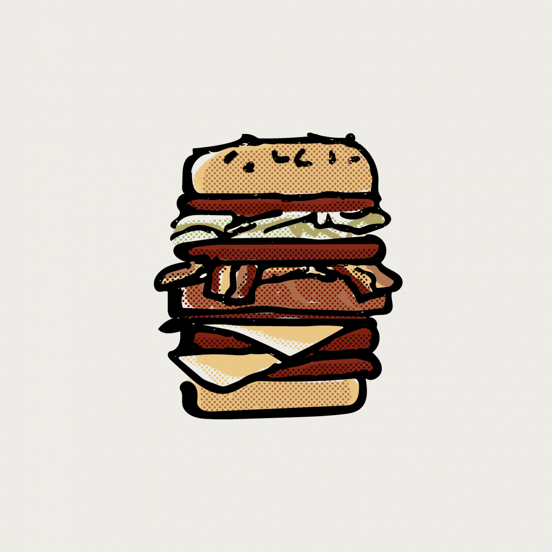 burger in color